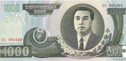 1000 Won CORÉE DU NORD  2002 P.45a NEUF