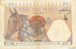25 Francs type 1933 AFRIQUE OCCIDENTALE FRANÇAISE (1895-1958)  1938 P.22 TTB