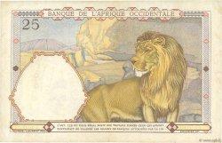 25 Francs AFRIQUE OCCIDENTALE FRANÇAISE (1895-1958)  1938 P.22 TTB