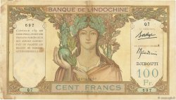 100 Francs DJIBOUTI  1931 P.08 TB à TTB