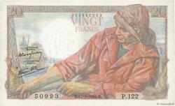 20 Francs PÊCHEUR FRANCE  1944 F.13.09 SUP à SPL