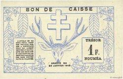 1 Franc NOUVELLE CALÉDONIE  1943 P.55b SUP