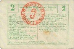 2 Francs FRANCE régionalisme et divers  1916 JP.02-1123.BRU TTB