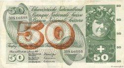 50 Francs SUISSE  1970 P.48j TTB