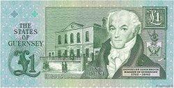 1 Pound GUERNESEY  1991 P.52c NEUF
