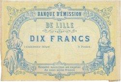 10 Francs FRANCE régionalisme et divers LILLE 1870 JER.59.41C TTB+