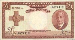 1 Pound MALTE  1951 P.22a TTB