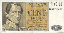 100 Francs BELGIQUE  1958 P.129c SUP