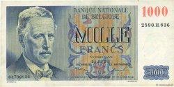1000 Francs BELGIQUE  1950 P.131a TTB+