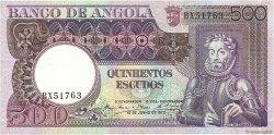 500 Escudos ANGOLA  1973 P.107 pr.NEUF