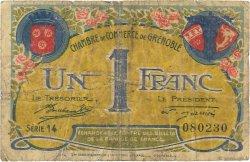 1 Franc FRANCE régionalisme et divers GRENOBLE 1917 JP.063.25 TB