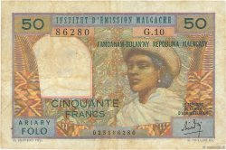 50 Francs - 10 Ariary MADAGASCAR  1962 K.843 TTB