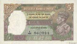 5 Rupees INDE  1937 P.018a pr.SUP