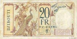 20 Francs au paon DJIBOUTI  1936 P.07
