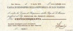 150 Lire SAINT-MARIN  1976 PS.101 NEUF
