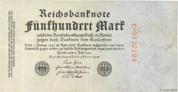 500 Mark ALLEMAGNE  1922 P.074a TTB+