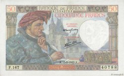 50 Francs JACQUES CŒUR FRANCE  1942 F.19.20 pr.NEUF