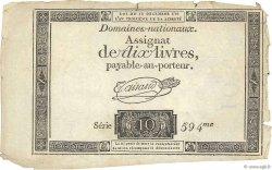 10 Livres FRANCE  1791 Ass.21a TTB