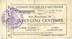 25 Centimes FRANCE régionalisme et divers FLUQUIERES 1915 JP.02-0902 pr.TTB