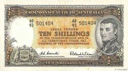 10 Shillings AUSTRALIE  1961 P.33 pr.SPL