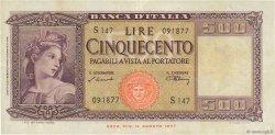500 Lire ITALIE  1947 P.080a TTB+