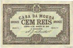 100 Reis PORTUGAL  1891 P.089 SUP