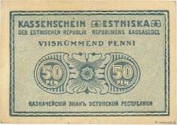 50 Penni ESTONIE  1919 P.42a TTB