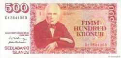 500 Kronur ISLANDE  1986 P.55a pr.SUP