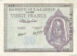 20 Francs type 1943 TUNISIE  1945 P.18 SUP