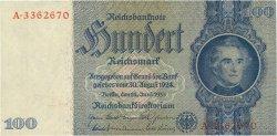 100 Reichsmark ALLEMAGNE  1935 P.183b SPL