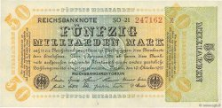 50 Milliards Mark ALLEMAGNE  1923 P.120a SPL