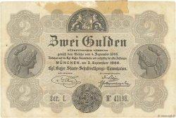 2 Gulden ALLEMAGNE Munich 1866 PS.0151 TTB+