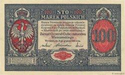 100 Marek POLOGNE  1916 P.015 SPL