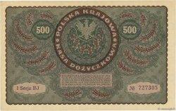 500 Marek POLOGNE  1919 P.028 SUP
