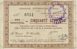 50 Centimes FRANCE régionalisme et divers ETREAUPONT 1915 JP.02-0746 TB