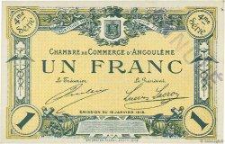 1 Franc FRANCE régionalisme et divers Angoulême 1915 JP.009.28 NEUF