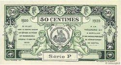 50 Centimes FRANCE régionalisme et divers Aurillac 1920 JP.016.14 SPL