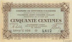 50 Centimes FRANCE régionalisme et divers Auxerre 1916 JP.017.11 NEUF
