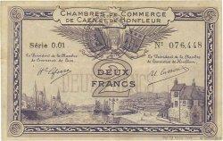 2 Francs FRANCE régionalisme et divers Caen et Honfleur 1918 JP.034.10 TTB+