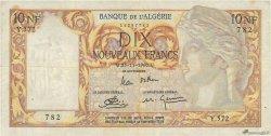 10 Nouveaux Francs type 1946 modifié 1959 ALGÉRIE  1960 P.119a TTB