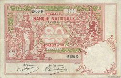 20 Francs BELGIQUE  1914 P.067 TTB