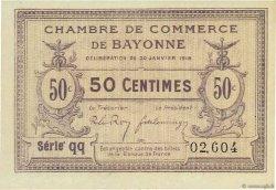 50 Centimes FRANCE régionalisme et divers BAYONNE 1918 JP.021.55 NEUF