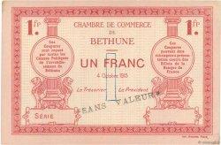 1 Franc FRANCE régionalisme et divers BÉTHUNE 1915 JP.026.07 SUP