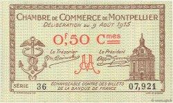 50 Centimes FRANCE régionalisme et divers MONTPELLIER 1915 JP.085.01 NEUF