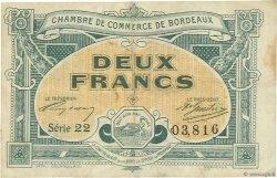 2 Francs FRANCE régionalisme et divers Bordeaux 1917 JP.030.23 TTB