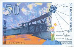 50 Francs SAINT-EXUPÉRY FRANCE  1992 F.72.01b NEUF