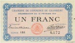 1 Franc FRANCE régionalisme et divers CHAMBÉRY 1916 JP.044.05 SPL à NEUF