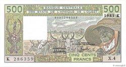 500 Francs type 1980 SÉNÉGAL  1983 P.706Kf pr.NEUF
