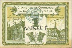1 Franc FRANCE régionalisme et divers CAEN ET HONFLEUR 1920 JP.034.15 SUP