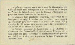 1 Franc FRANCE régionalisme et divers SAINT-BRIEUC 1918 JP.111.06 NEUF